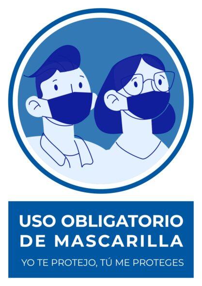 🖨️ 6 Carteles de uso obligatorio de mascarilla para imprimir GRATIS en pdf