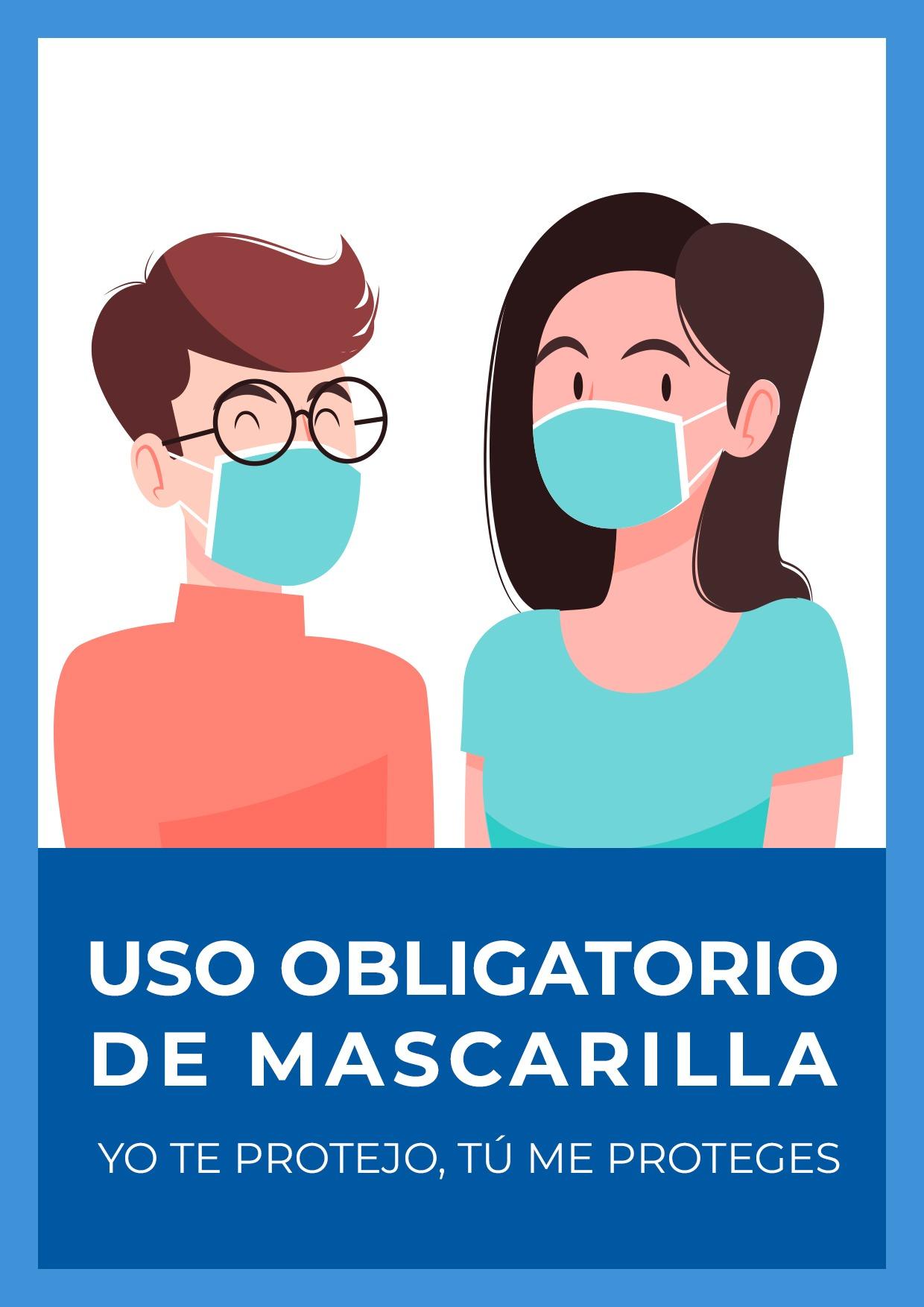 cartel para uso obligatorio de mascarilla gratis para imprimir