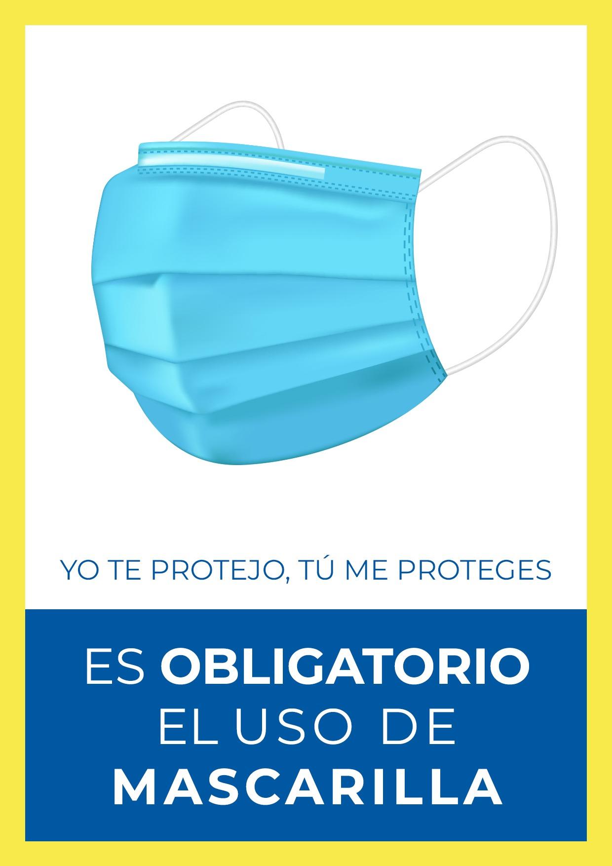 cartel para uso obligatorio de mascarilla para imprimir gratis