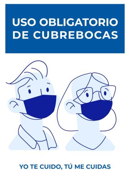 🖨️ 4 Letreros de uso obligatorio de cubrebocas para imprimir GRATIS en pdf