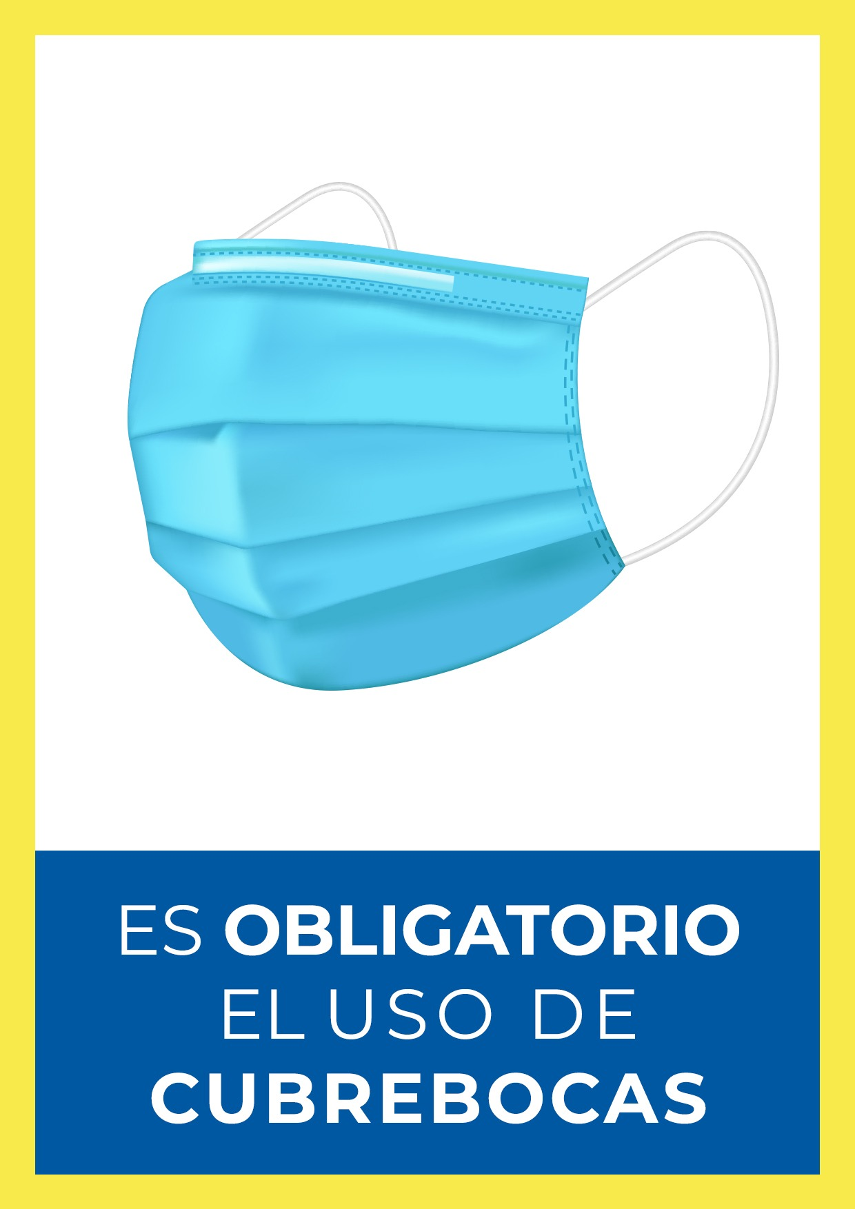 letrero para uso obligatorio de cubrebocas para imprimir gratis