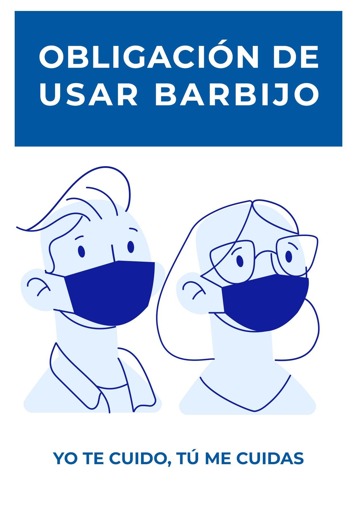 cartel obligacion usar barbijo para imprimir 1