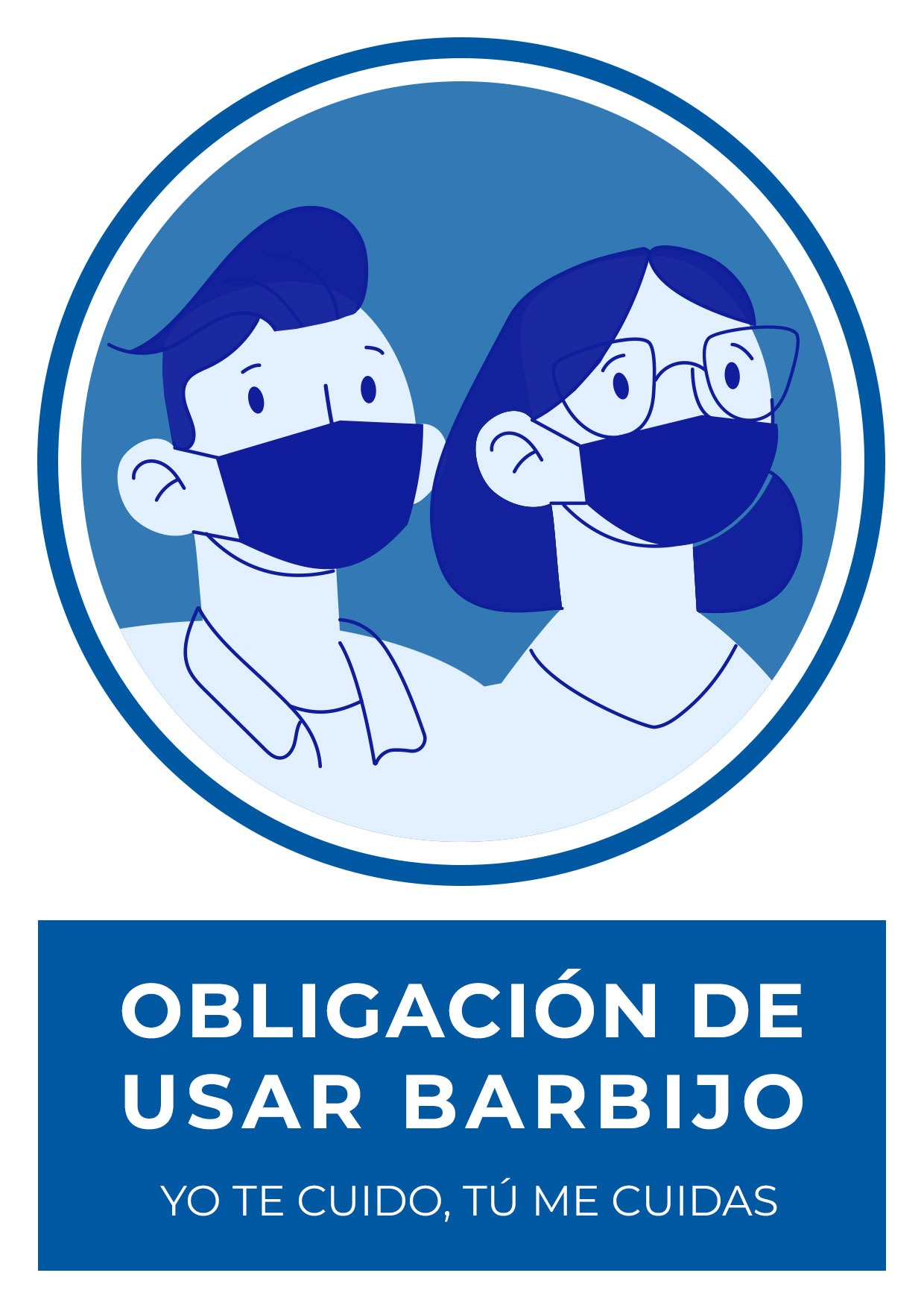cartel obligacion usar barbijo para imprimir 2