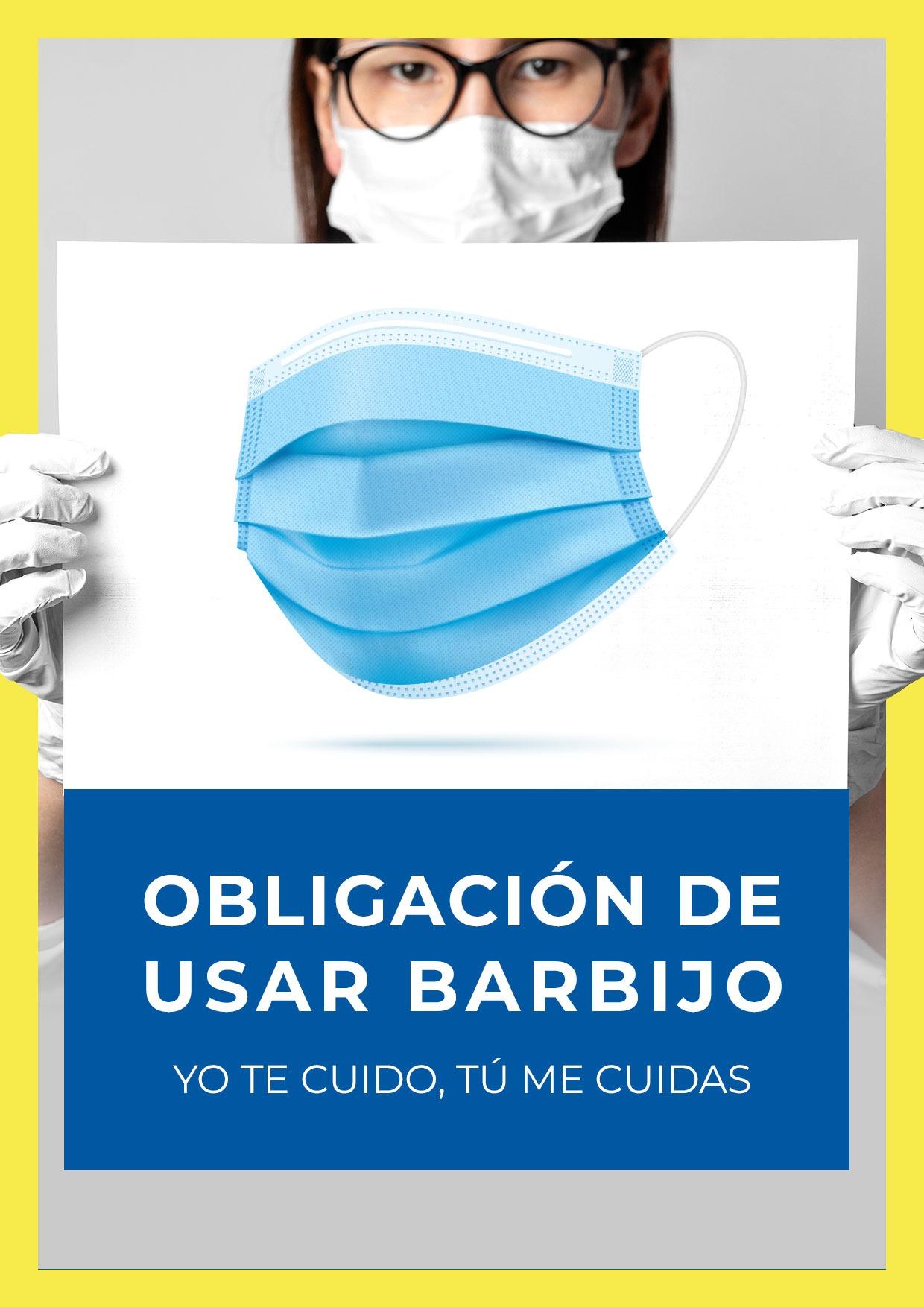 cartel obligacion usar barbijo para imprimir 5