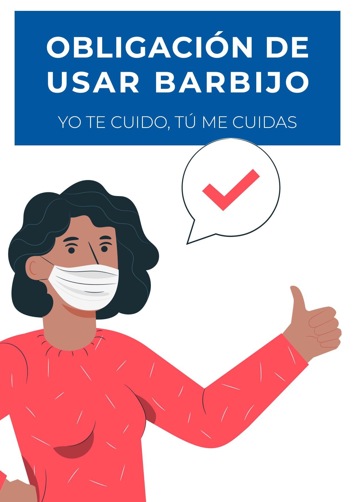 cartel obligacion usar barbijo para imprimir 6