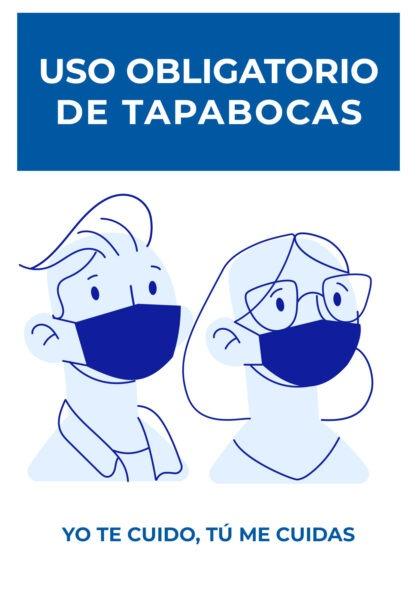 🖨️ 4 Letreros de uso obligatorio de tapabocas para imprimir GRATIS en pdf