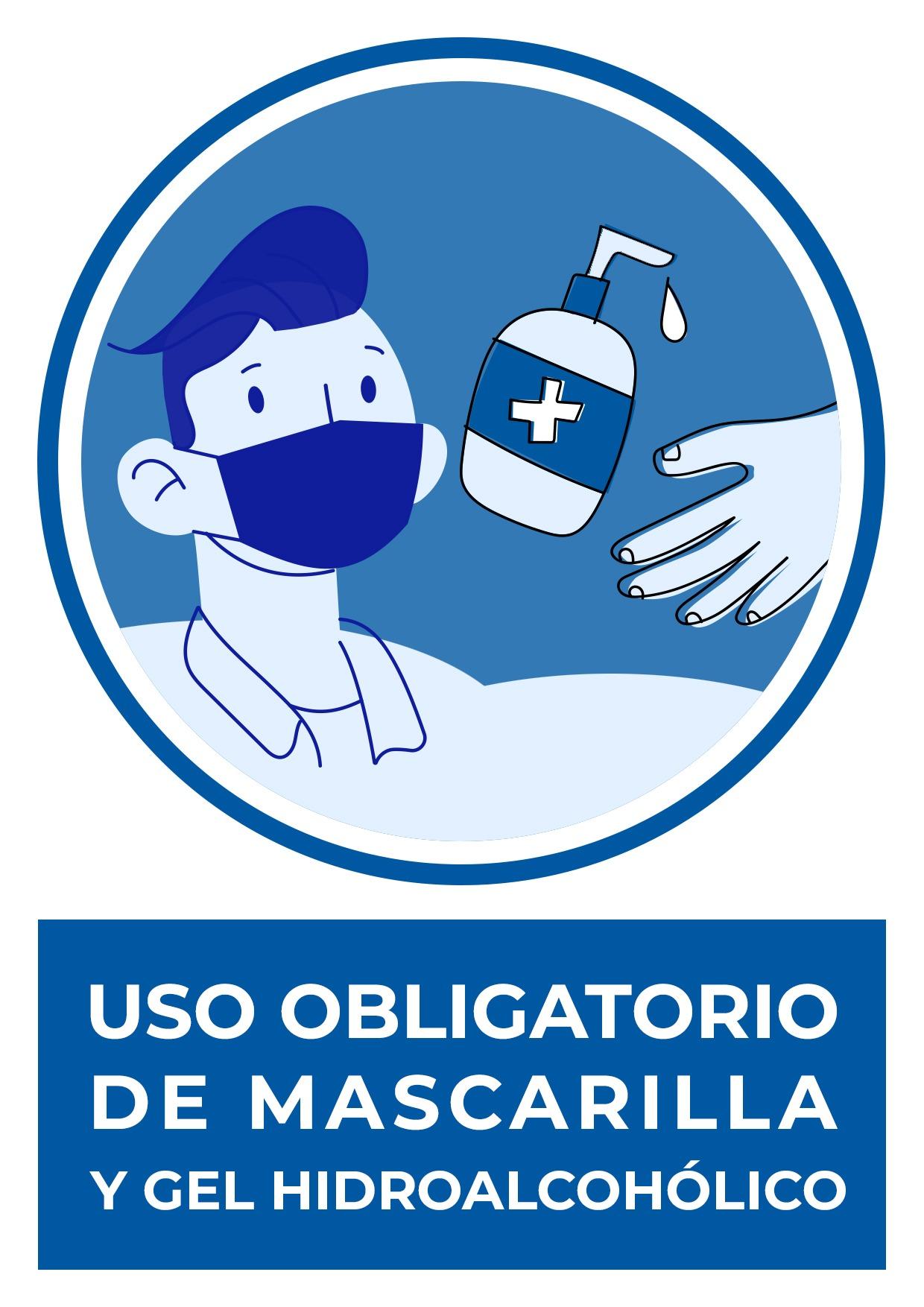 cartel uso obligatorio mascarilla y gel para imprimir 4